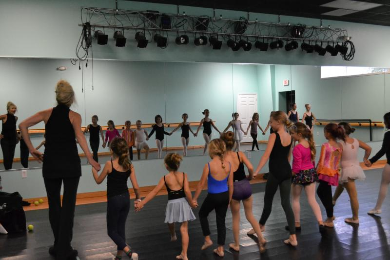 Kids participating in a workshop at The Dancce Element studio in Wilmington NC.